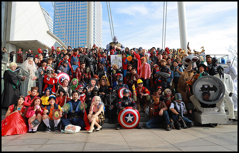 TOKYO COMIC CON 2019 MEET UP cosplay group photo session